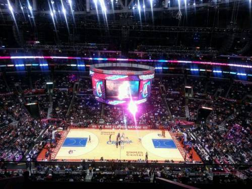 "@TheLPV took this brilliant photo, of his center court view, when the Los Angeles Clippers took on the Phoenix Suns.He recommends, when at the Staples Center, ""If you have to sit in the 300 section, this is the one you want."" You can see why he said that about section 318. (via Staples Center section 318 row 8 seat 20 - Los Angeles Clippers vs Phoenix Suns shared by thelpv)"