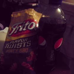 Yeah this is dinner #fritos #pepsi #healthy