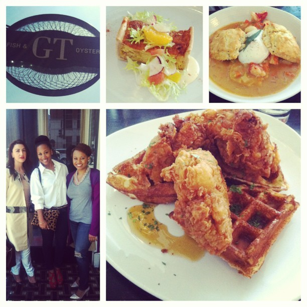 The beginning of a brunch series with my blogger ladies @giuseppetentoti's #GTFishandOyster. Who was the genius who ordered chicken at a seafood restaurant? Me. And it was delicious, thank you.