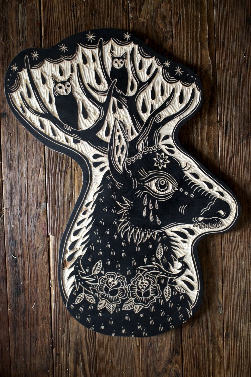 deerjerk:  Deer and Owls. 2013