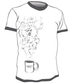 Jimmy's Coffee Co.  T-Shirt Contest Submission Art Direction / Illustration
