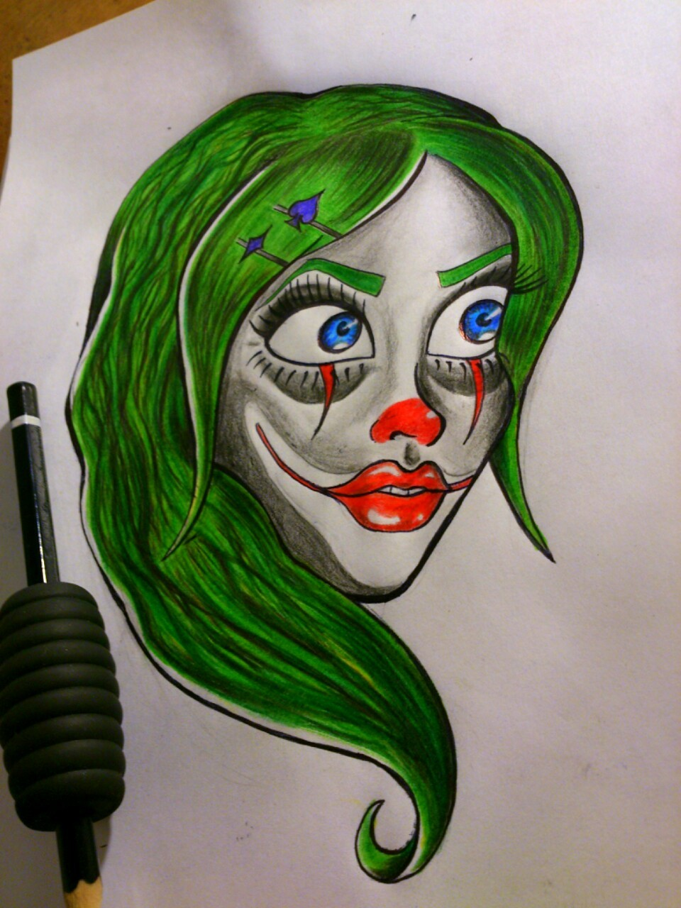 Finished yesterday's clown guuurl :)