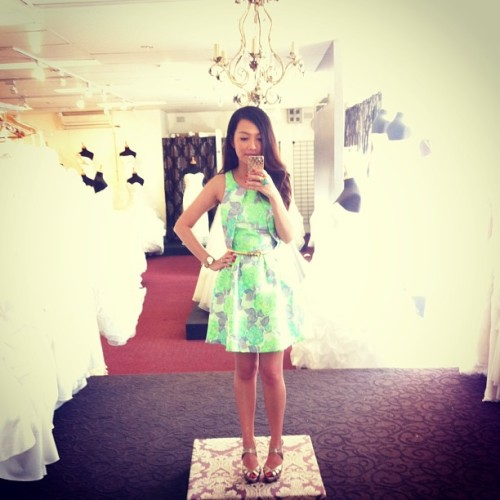 Dress #1 for Kim & Viet's wedding today 💚   #todayimwearing #topshop #dress #ootd #style #instadaily #photooftheday #fashiondiary #me #girl #love #wedding #like #instastyle #truelovecouture #mirror  (at True Love Couture)