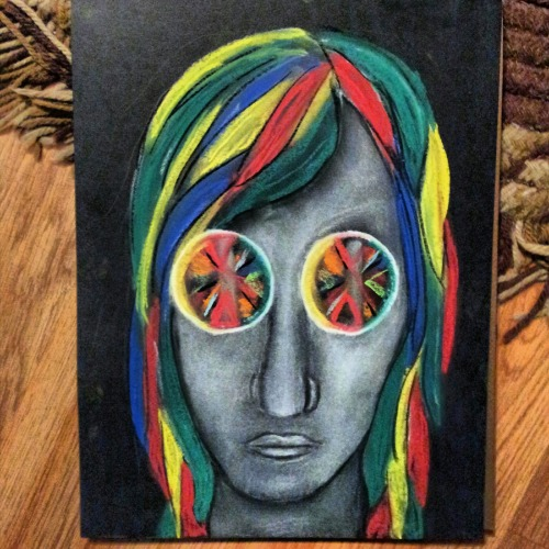 The girl with the kaleidoscope eyes.