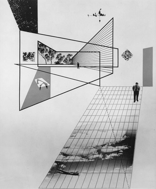 Herbert Matter - Photomontage (cover for Arts & Architecture), 1945. … via Live Auctioneers