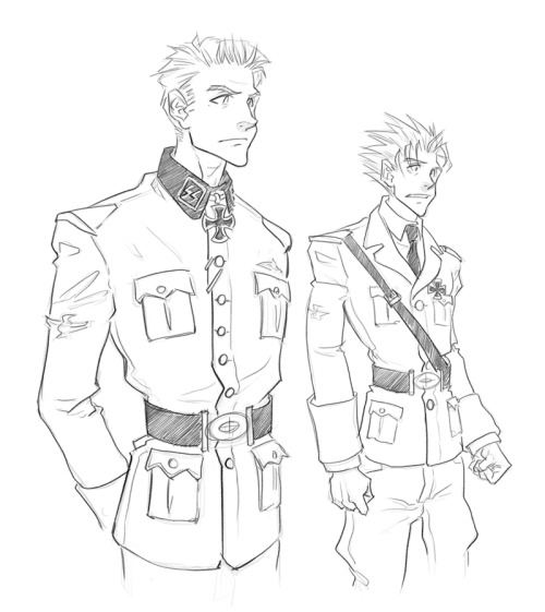 fantardism:  *obligatory characters-in-nazi-uniforms post* Related to this. An AU fancomic in the planning stages.