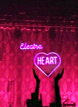 beezusdoesart:  Picture from last night's Marina and the Diamonds concert. It was my first concert, and even though the scene wasn't exactly my thing since I get really anxious in large crowds, I LOVED it. She was amazing.<3