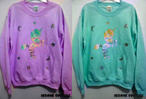 thunder-bunny:  Holographic Unicorn Sweater $49.40