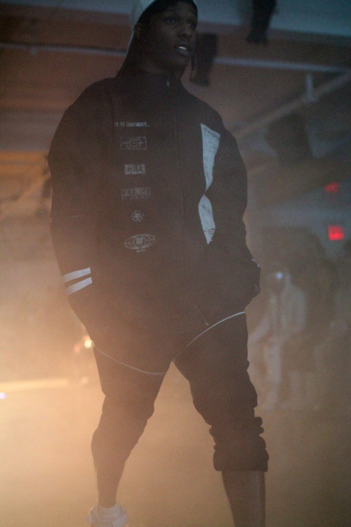 ASAP Rocky last look at Hood by Air at Milk Studios