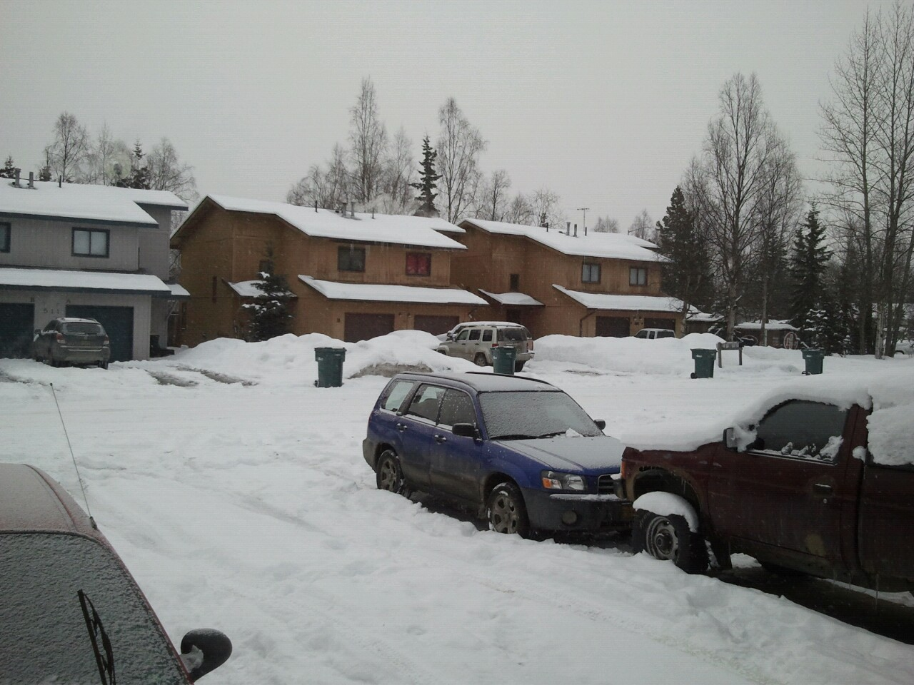 Last week it was spring time here in Anchorage, Alaska. The temperatures were in the forties, the sun was always out. With everything thawing out the green was on it's way. Now it is -8° in front of my house here in the Muldoon neighborhood. It's snowing and the sun is nowhere to be found. Who pissed off weatherman?