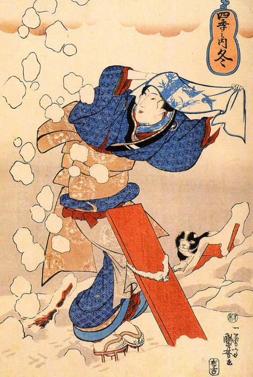 kittehkats:  Women Utagawa Kuniyoshi (Japanese: 歌川国芳) (ca. 1797 - April 14, 1861) was one of the last great masters of the Japanese ukiyo-e style of woodblock prints and painting and belonged to the Utagawa school.