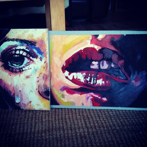 Two down, now four huge ones to go… For tomorrow -.- #art