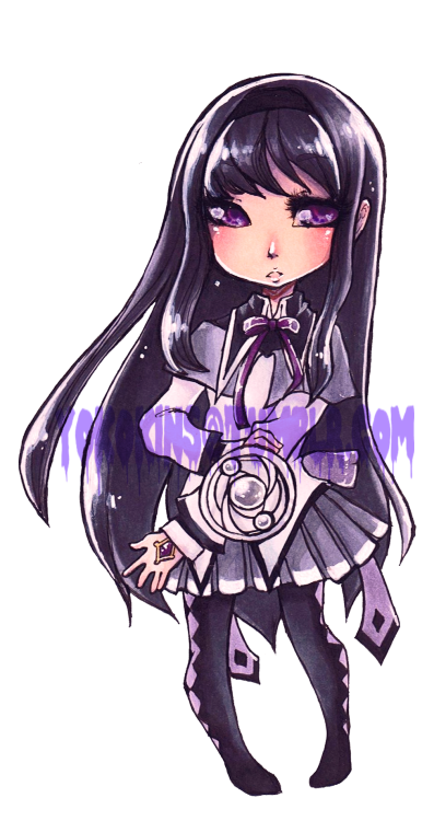 Another commission for Starlight Deco Dream.Homura from Puella Magi Madoka Magica!  So happy and excited for these commissions. ;w;