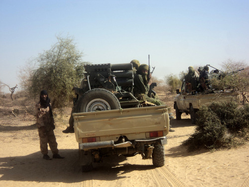 "French-Led Strikes on Mali Islamists Threaten Revenge Attacks | Bloomberg By Franz Wild & Pauline Bax French and West African military intervention in Mali runs the risk of provoking revenge attacks by Islamic militants, spreading instability in a region rich in gold, uranium and cocoa, said analysts from Dakar to London. ""When you send troops to the north of Mali there is the possibility of reprisals in terms of terrorist attacks,"" Gilles Yabi, the West Africa program director of Brussels-based International Crisis Group, said today in an interview from the Senegalese capital, Dakar. ""These countries don't have the level of security and protection that western countries have. France itself is taking a risk, in terms of the hostages and in terms of terrorist attacks."" FULL ARTICLE (Bloomberg) Photo: Magharebia/Flickr"