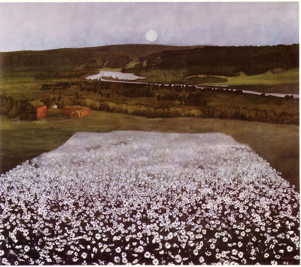 "heliophobus:  ""En blomstereng nordpå"" (Flower Meadows in the North), 1905by Harald Sohlberg"