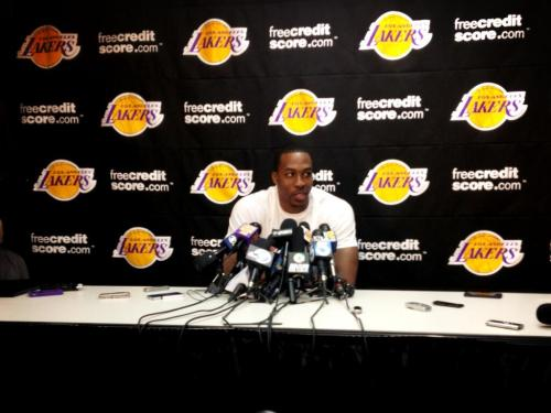 "lakers:  Dwight on teammates wanting him back: ""It's great. With all the stuff that's happened those guys have shown support."""