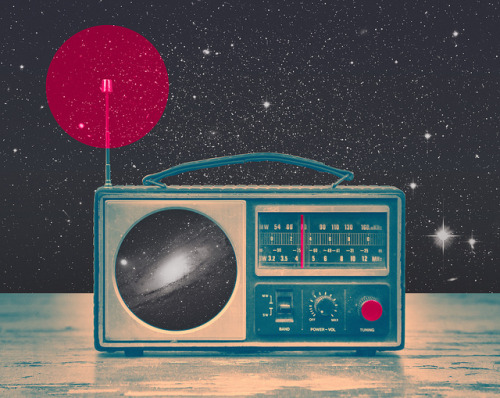 """Space Radio"" is available as Art Prints and Canvas, t-shirt and Throw Pillows on my Society6 shop :) oh btw, there is FREE SHIPPING thru Sunday 31st… Worldwide!"