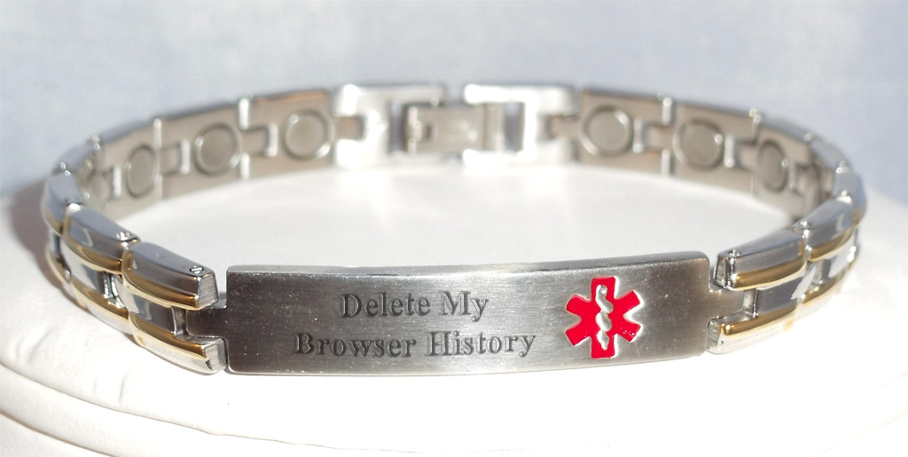 Medic-alert bracelet for the modern man.