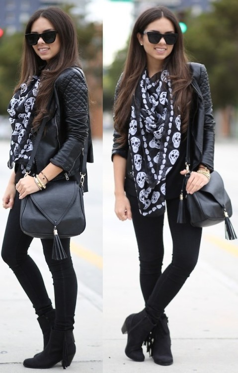 lookbookdotnu:  Blacked out (by Daniela Ramirez)