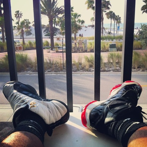 OG Bred 11's (Right) OG Taxi 12's (Left) Clearwater Beach