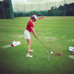 "bunkershotgolf:  Via Natalie Gulbis on Twitter - ""Practice Day here in Singapore"" @lpga"