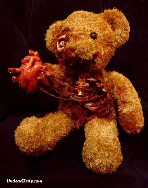This Valentine UndeadTed has torn his own heart out and wants you to have it. How sweet. £59. Shipping is free in the UK. [LINK]  SOLD