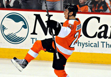 Erik Gustafsson of the Philadelphia Flyers