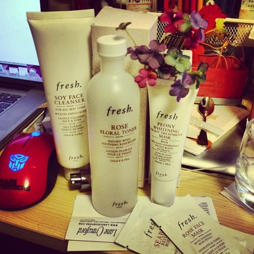 #fresh #soy#face#cleanser #rose#floral#toner #peony#whitening#night#treatment#mask #rose#face#mask #seaberry#restorative#body#cream #LaneCrawford #zakka #LuckyClover
