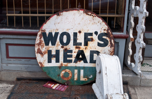 Ask For Wolf's Head Oil Outside a shop around 2nd & Arch Street, Old City James took this.