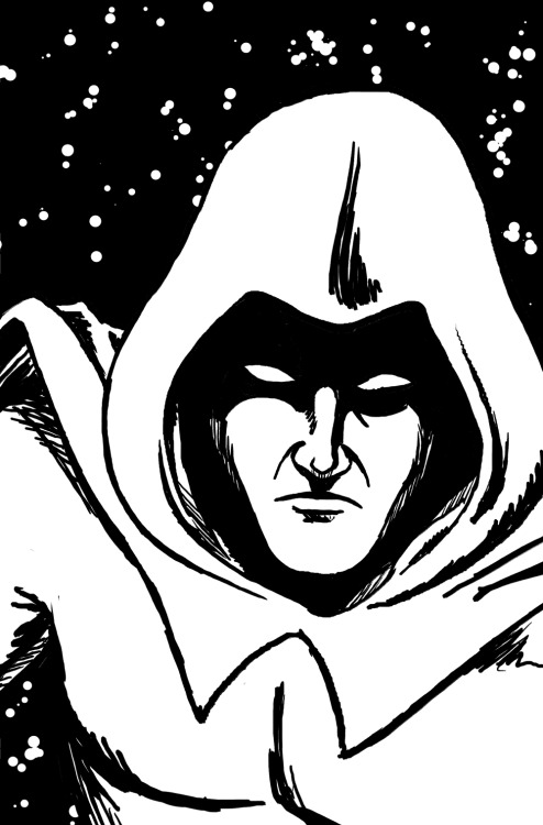 Quick sketch of The Spectre. I love the character and especially the 90's series by John Ostrander and Tom Mandrake. I can't imagine why DC wouldn't collect these issues into a hardcover, it really is one of the best comics of the era. Of course, the old Jim Aparo issues of the 70's are truly amazing, as well.