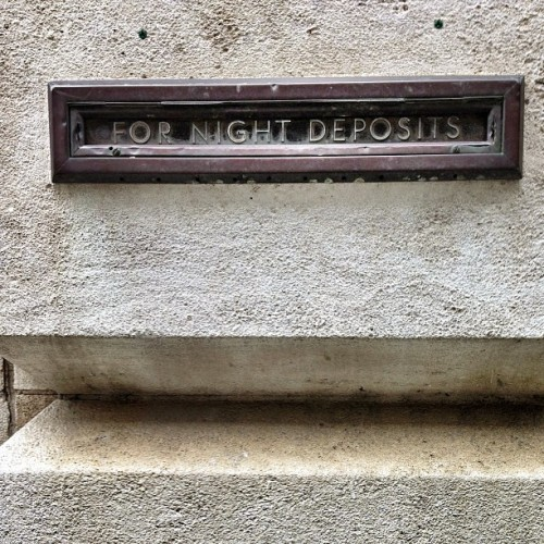 For Night Deposits (at Fairlie Poplar Neighborhood)