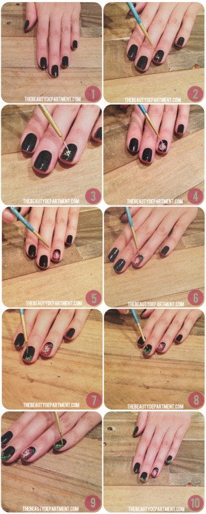 Love this cute & crafty nail tutorial from The Beauty Department! Looking forward to trying this out in some pretty pastels for spring.  <3 Chelsey, ModStylist Need styling suggestions, trend tips, or dress details? Ask a ModStylist and your question might be featured on our feed!