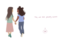 bevsi:made a tiny picture book for class. i wanted to challenge the idea that girls loving other girls is somehow adult/inappropriateGirls loving girls is not just for adults.