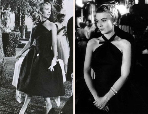 Jean Seberg X Givenchy in Bonjour Tristesse is nothing but an unequivocal dream. Later in her life Jean's active involvement in the Civil Rights movement made her target of an FBI COINTELPRO smear campaign. She then suffered a miscarriage of a Black Pather's child, was black listed from Hollywood and was subsequently found dead in the back of her car after 10 days having killed herself.