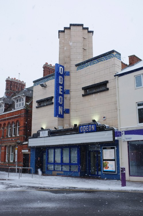 Old Odeon in Loughborough, England. scavengedluxury:  Odeon Cinema, Loughborough. January 2013.