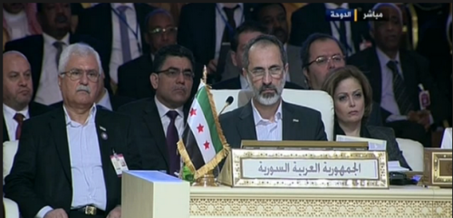 "There are no words to describe the absurdity of Moaz al-Khatib seated at a panel entitled ""Syrian Arab Republic"". There are no words to describe the irony of hearing the Qatari Emir decry the ""oppression and repression of the people"" in Syria. There are no words to describe the oxymoronic notion of a US-Saudi backed ""revolution"". There are no words to describe the treason of Syrians and Arabs who shamelessly support a movement which is begging John Kerry to rain down NATO Patriot missiles on Syria. There are no words to describe the gruesome images of severed heads ""rebels"" proudly flaunt before the cameras. There are no words to describe the irrationality of the state-sponsored sectarian scourge that has plagued our region and which threatens to dismember Syria and its neighbours. All this as Syrian and Arab opposition supporters cheer on. There are no words left…"
