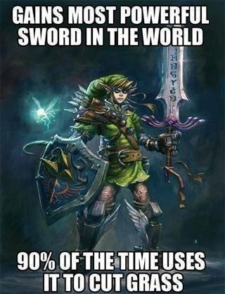 rpgfanatics:  God dammit Master Sword.http://rpgfanatics.tumblr.com