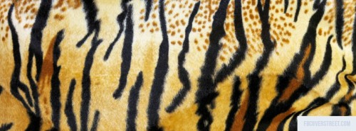 Tiger Print Fur Facebook Cover