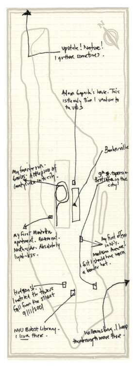 Malcolm Gladwell's hand-drawn Manhattan