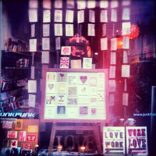 Love is in the air…our Valentine's window! www.facebook.com/junkfunkshop