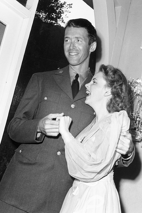 Jimmy Stewart and Judy Garland, 1942.