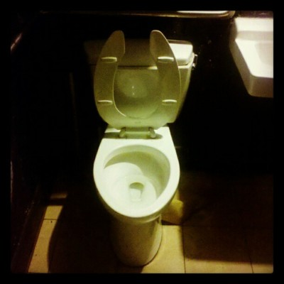 Where tigers eat corndogs. Hungry Tiger, SE Portland #toilet, #hungrytiger, #pdx