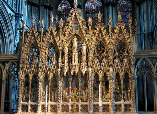 Ely Cathedral reredos by Lawrence OP on Flickr.