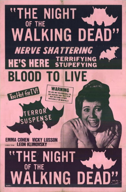 ronaldcmerchant:  ad for NIGHT OF THE WALKING DEAD (1975)-an obscure Spainish vampire film.