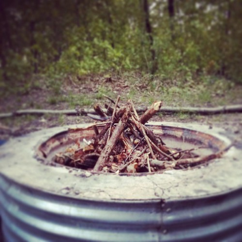 Time for a campfire! @cetialphav  (at Portage Lake Campground (Waterloo State Rec. Area))