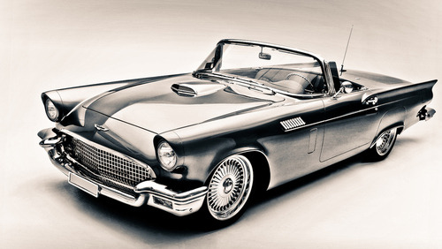 thesuprememuscle:  Ford Thunderbird 57' by Chris Toombes