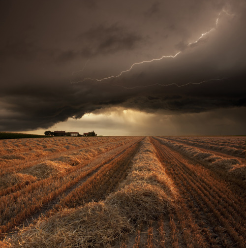 rcruzniemiec:  Harvest timeFranz Schumacher Summer storm at harvest time in Strohgaeu Baden-Wuerttemberg, Germany
