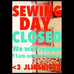 ⚡⚡RAINY DAY SEWING!! We will reopen tomorrow with over 100 NEW ITEMS!!!!⚡⚡
