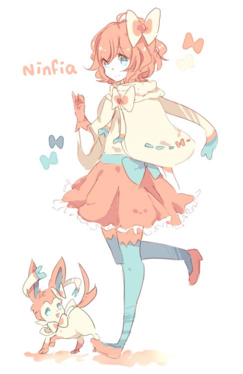 flanecitoghei:  I can't draw pokémons okay OTL;; Buuuuuuut ninfia is just too cute  <3