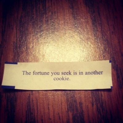 Best fortune ever.